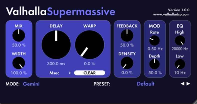 Valhalla Supermassive v1.1.1 VST VST3 AU AXX WiN MAC